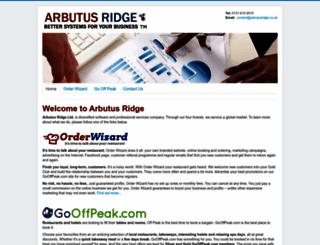 arbutusridge.co.uk screenshot