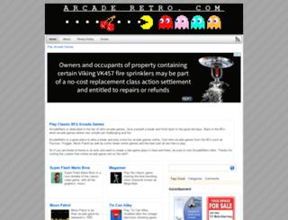 arcaderetro.com screenshot