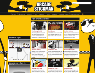 arcadestickman.com screenshot