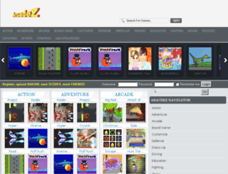 arcadez.com screenshot