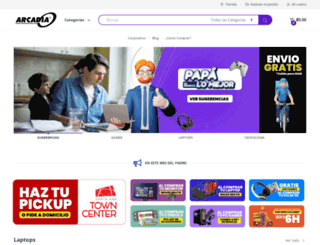 arcadia.co.cr screenshot