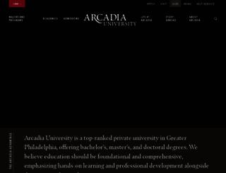 arcadia.edu screenshot