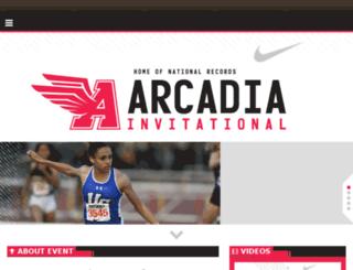 arcadiainvitational.org screenshot