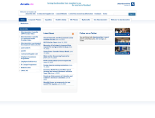 arcadialite.aberdeenshire.gov.uk screenshot