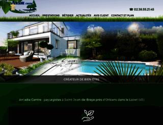 arcadie-centre.com screenshot