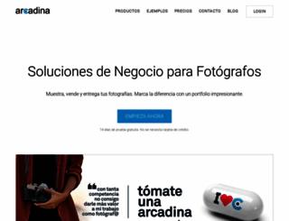 arcadina.com screenshot