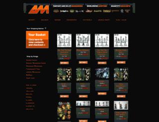 arcaneminiatures.co.uk screenshot