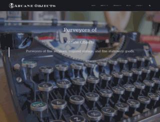 arcaneobjects.com screenshot