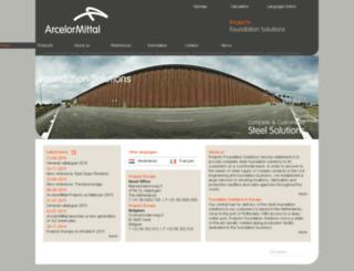 arcelorprojects.be screenshot