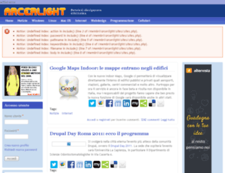 arcerlight.altervista.org screenshot