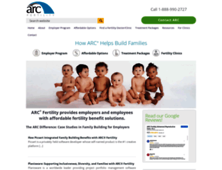 arcfertility.com screenshot
