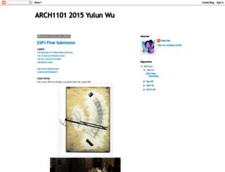 arch1101yulunwu.blogspot.com.au screenshot