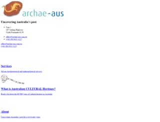 archae-aus.com.au screenshot