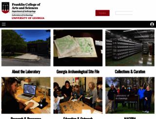 archaeology.uga.edu screenshot