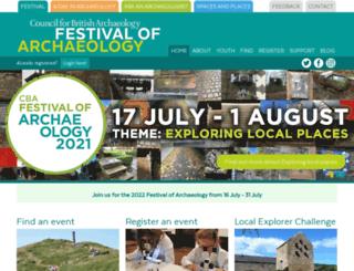 archaeologyfestival.org.uk screenshot