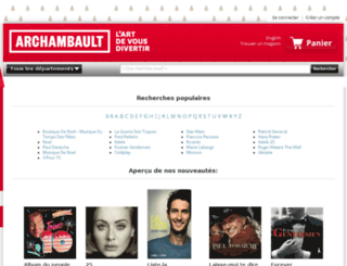 archambault.resultspage.com screenshot
