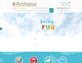 archanaschool.com screenshot