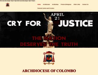 archdioceseofcolombo.com screenshot