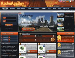 archeagebuy.com screenshot