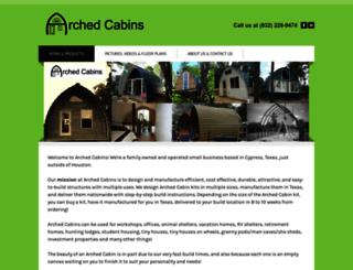 archedcabins.com screenshot