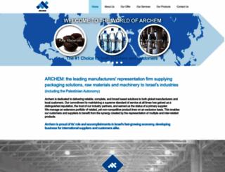 archem.co.il screenshot