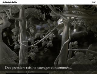 archeologie-vin.inrap.fr screenshot