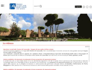archeoroma.beniculturali.it screenshot