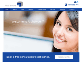 archetypeit.com.au screenshot