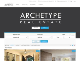 archetyperealty.com screenshot