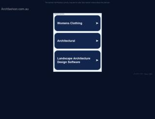 archfashion.com.au screenshot