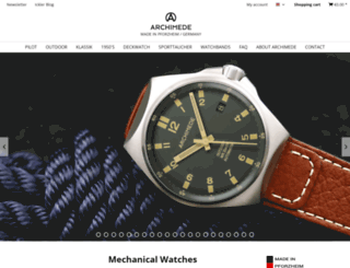 archimede-watches.com screenshot