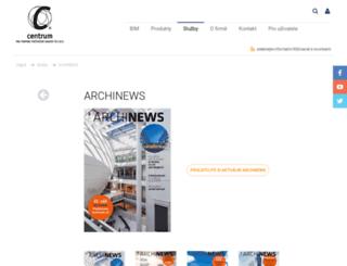 archinews.cz screenshot