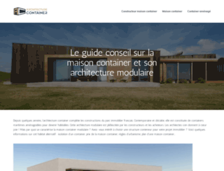 architecture-container.com screenshot