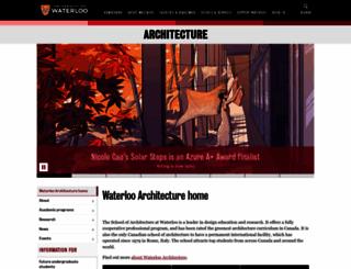 architecture.uwaterloo.ca screenshot