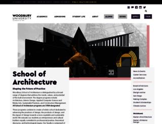 architecture.woodbury.edu screenshot