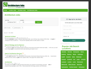 architecturejobs.co.uk screenshot