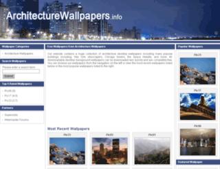 architecturewallpapers.info screenshot