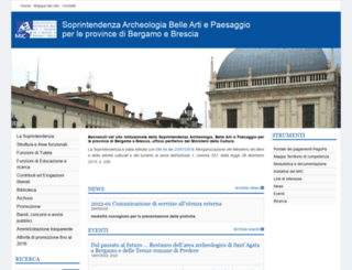 architettonicibrescia.beniculturali.it screenshot