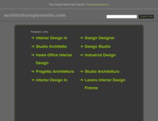 architetturagiovanile.com screenshot