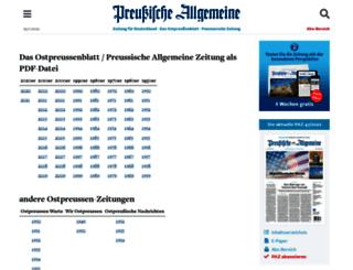 archiv.preussische-allgemeine.de screenshot