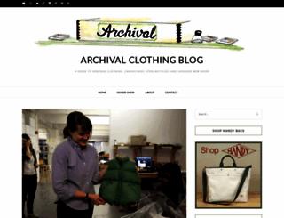 archivalclothing.com screenshot