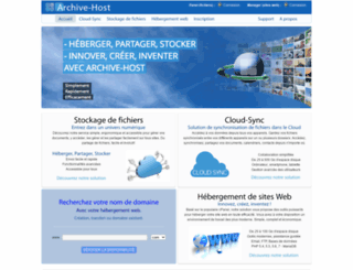 archive-host.com screenshot