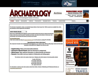archive.archaeology.org screenshot