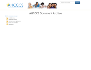 archive.azahcccs.gov screenshot