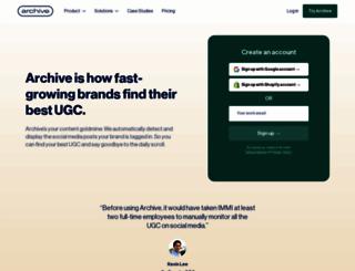 archive.com screenshot