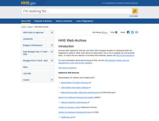 archive.hhs.gov screenshot