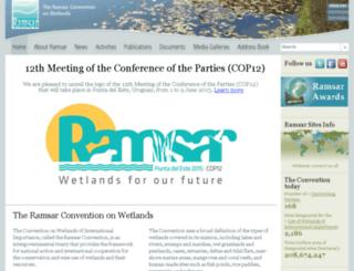 archive.ramsar.org screenshot