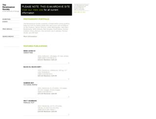 archive.renaissancesociety.org screenshot