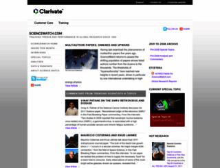 archive.sciencewatch.com screenshot