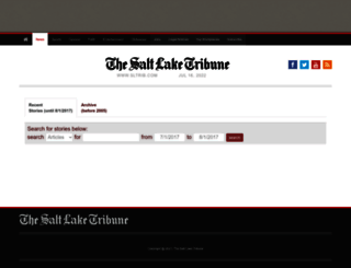 archive.sltrib.com screenshot